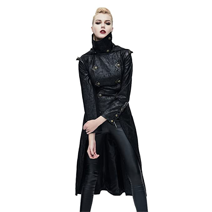 attractive style popular stores latest releases Amazon.com: Gothic Clothing Fashion Hooded Black Leather ...