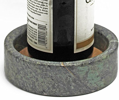 Any Drink - Green Wine Bottle Coaster / Holder – Made from Elegant Marble with an Absorbent Cork – Perfect for All Drinks and any Occasion – By CraftOfEgypt
