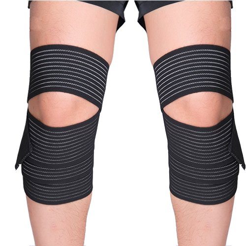 Luwint High Elasticity Compression Bandage, Ankle Wrist Knee Shin Calf Thigh Wraps Support for Sports Gym Weightlifting Fitness Running Pain Relief, 1 Pair