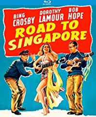 The 1940s' hottest movie trio—Bob Hope, Bing Crosby and Dorothy Lamour—chart a course for comedy, music and romance in Road to Singapore. Running out on his stuffy desk job and marriage-minded girlfriend, Josh Mallon (Crosby) links up with sa...