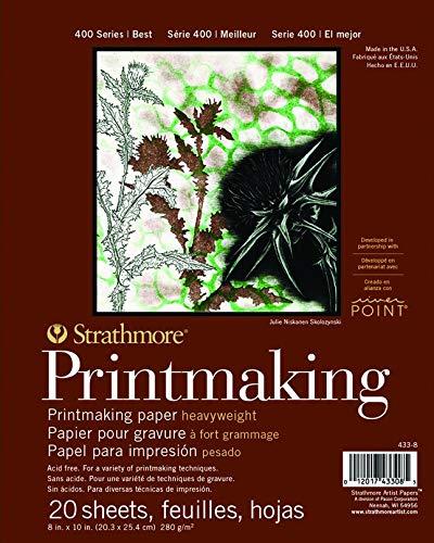 Strathmore Paper 400 Series Printmaking Pad, Heavyweight, 8