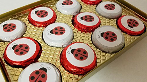 Truffles Ladybug - Lady Bugs Gift Box Chocolate Coated 12 piece Oreo Cookie Set Novelty Gift