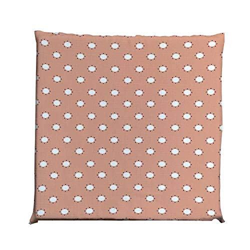 YOLIYANA Pink Durable Square Chair Pad,Modern Youth Theme Home Decor with Floral Like Circles Surrounded by Dots Print for Bedroom Living Room,One Size ()