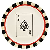 Four Aces Poker Ceramic Dessert Plates, Set of 4