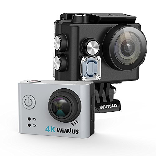 Action Camera  4K FPV WIMIUS L2 Wifi 12MP Waterproof Sports Camera  2.0'' 170°  Wide Angle Include 2pcs Batteries and Full Accessories -Silver Action Cameras WiMiUS®