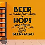 wall decals beer - Beer Is Made From Hops Hops Are Plants Beer Is Salad Vinyl Wall Decal Sticker