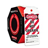Accuform Signs TAR125 Tags By-The-Roll Lockout Tags, Legend