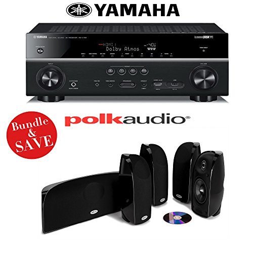Best of Yamaha RX-V781BL 7.2-Channel 4K A/V Receiver + A Polk Audio TL350 5.0 High Performance Home Theater Speaker System