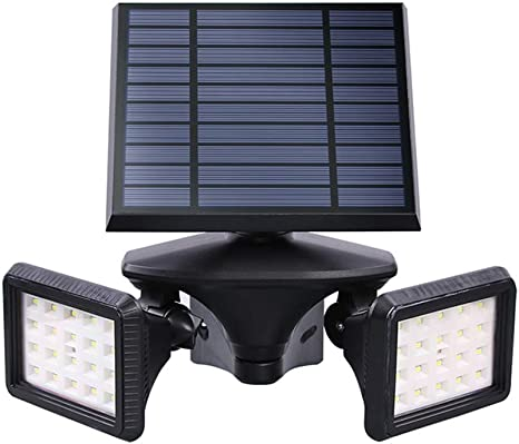 Lámparas Solares Farola Jardín Solar Focos LED Exterior 20 Leds Luces Impermeable IP54 Apliques De Pared Solar Ajustable Con Rotación De 360 ° Para Jardín Patio Pathway Terraza Calzada Cesped Paisaje (3.5W):