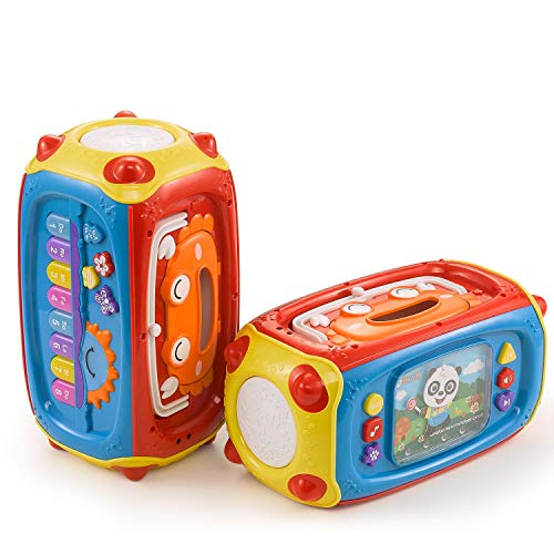 Baby Musical Toy, NextX 8 In1 Toddler Activity Box for 6 To 12 Months Infant Learning Toy, With Microphone