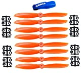 Gemfan 6045R 2-Blade Multirotor Nylon Propeller Orange CW for FPV 250 (8PCS) W/Free Gifts