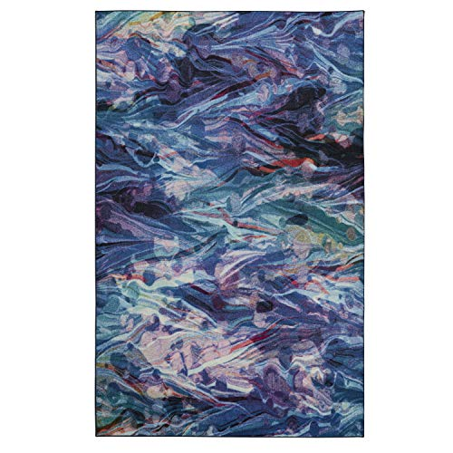 Mohawk Home Prismatic Florentine Paper Multicolored Abstract Marble Precision Printed Area Rug, 5'x8', ()