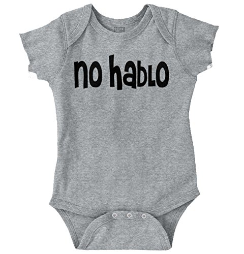 Brisco Brands No Hablo English Funny Baby Clothes Cute Newborn Gift Spanish Romper Bodysuit