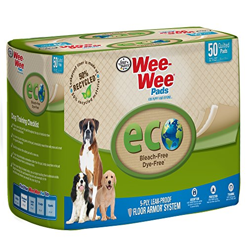 (Wee Puppy Pee Pads for Dogs | 50Count | Puppy Training Pads for Dogs | Eco-Friendly Pads)