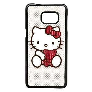 Hello Kitty caso C0H48B5HF funda Samsung Galaxy S6 Edge Plus funda FOD3S3 negro