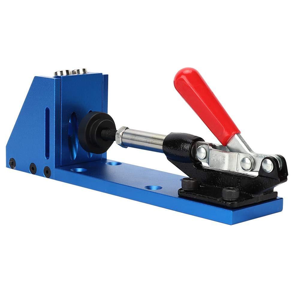 Kit de localizador de orificios para carpinter/ía Localizador de taladro de espiga gu/ía de carpinter/ía Herramienta de gu/ía de taladrado de orificios de madera