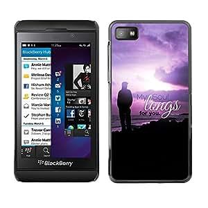 Paccase / Dura PC Caso Funda Carcasa de Protección para - BIBLE My Soul Longs For You - Psalm 43:6 - Blackberry Z10