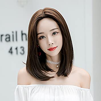 Amazon Com Short Hair Shoulder Length Wig Hair Round Face Carved