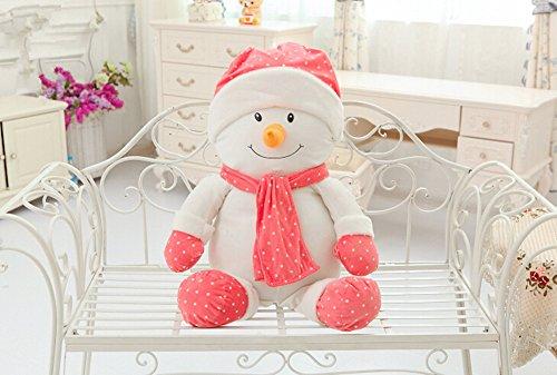 Luk Oil Christmas Snowman Plush Toys Christmas Doll Dolls Snowman Christmas Gifts for Children (Pink 23.62
