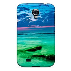 Tpu Case Cover Compatible For Galaxy S4/ Hot Case/ Green Passion