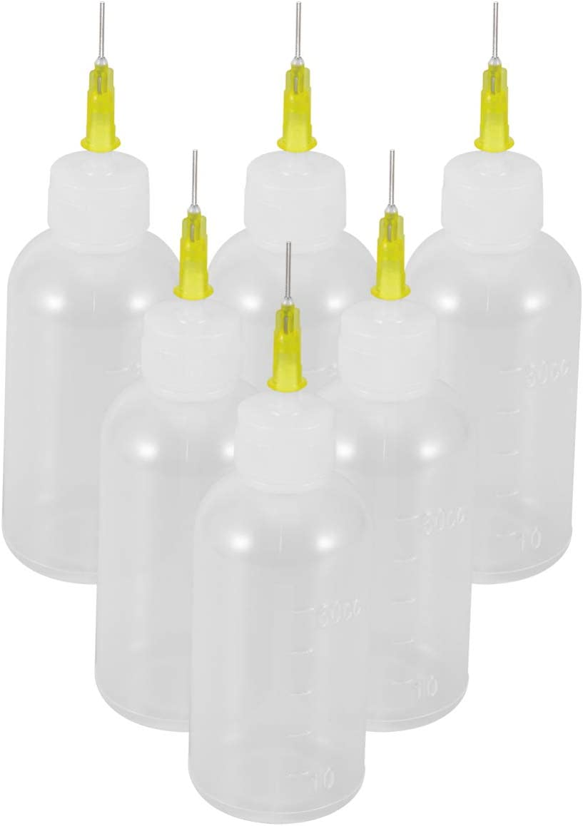 Artibetter 6 St/ück Pr/äzisionsspitzenapplikatorflasche Mehrzweck-Leergut-Nadelverschlusskappe Quetschflasche zum Kleben von Quilling DIY Craft Acrylmalerei
