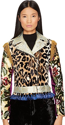 Jeremy Scott Women's Icon Moto Jacket Fantasy Print - Jeremy Womens Scott
