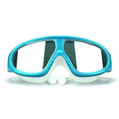 Grande boîte imperméable lunettes de natation HD miroir anti-buée avec des bouchons d'oreilles Mme garçons lunettes de natation équipement de plongée , a3