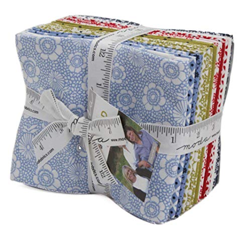 Oxford Prints 15 Fat Quarter Bundle by Sweetwater for Moda Fabrics 5710AB