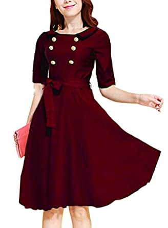 Rephyllis Damen Vintage Rockabilly 50er 60er Ball Abendkleid