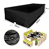 KINGSO Patio Furniture Cover Durable and Water Resistant Outdoor large size Furniture Sets Cover 137.8'' x 102.4'' x 35.4''