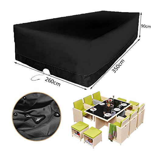 KINGSO Patio Furniture Cover Durable and Water Resistant Outdoor large size Furniture Sets Cover 137.8'' x 102.4'' x 35.4'' by KINGSO