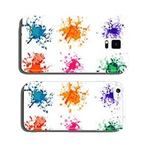 Colorful paint splashes on white. plus EPS10 cell phone cover case iPhone6 Plus
