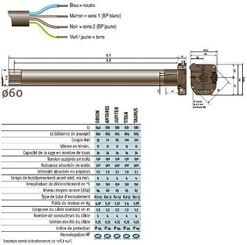 Amazon.com: Motor 230 V/50Hz LT60 Titan CSI Somfy 1166005 ...