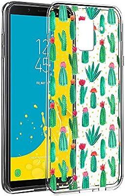 Funda Samsung Galaxy J6 2018, Eouine Cárcasa Silicona 3D Transparente con Dibujos Diseño Suave Gel TPU [Antigolpes] de Protector Bumper Case Cover Fundas para Movil Samsung J6-5,6 Pulgadas, Cactus: Amazon.es: Electrónica