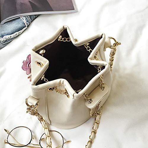 di borsa diagonale femminile di signora della benna della rosa fiore del spalla Pacchetto pompaggio Sacchetto modo dolce della nero della F4xvqYwY