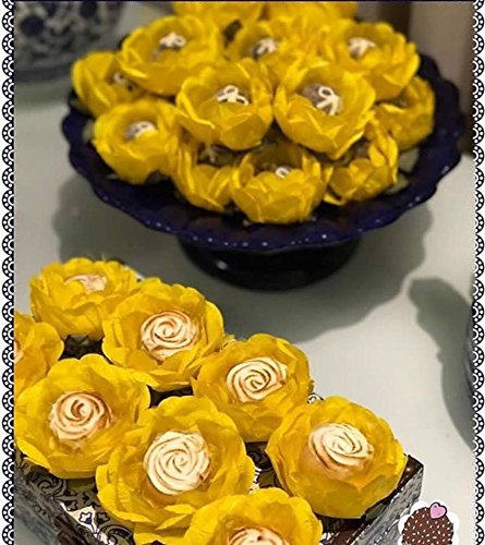 Handmade Fabric Truffle Wrappers Forminhas de brigadeiro Wedding Chocolate Wrappers Candy Wrappers Truffilio Pack of 20 White Lace Truffle Cups