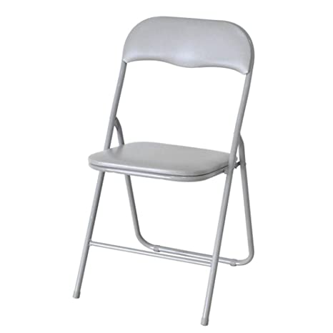 Amazon.com: Silla de comedor plegable, silla de metal ...