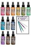 Tim Holtz Distress Oxide Spray Bundle New 2019 Colors (12 Bottle Set)