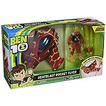 Ben 10 Vehículo Alien con Figura, Heatblast Rocket Flyer, Multicolor (Giochi BEN20001)