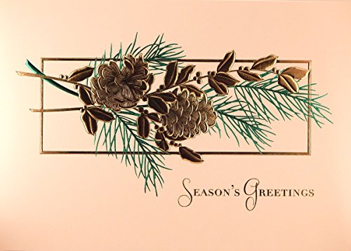 Classic Pinecones, Boxed Christmas Cards By Masterpiece Studios (Lighthouse Christmas Cards)