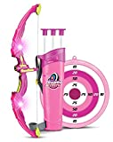 Yeazyai 3 Suction Cup Arrows Kids Bow Arrow Toy, Princess Basic Archery Set Outdoor Hunting Game Target Quiver