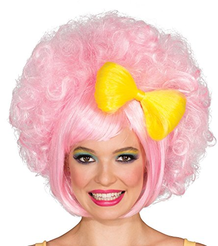 Rubie's Pastel Cutie Doll Wig With Bow, Pink/Yellow, One -