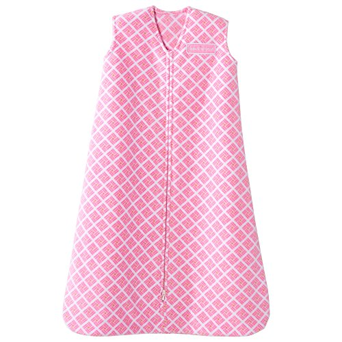 Halo Pink Geometric Sleepsack Wearable Baby Blanket, Micro-Fleece, Small by Halo