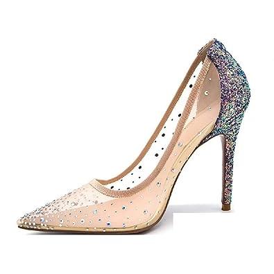 37eacd2c744 THE LONDON STORE Women's High Heel Pumps Women Fashion Sequin Bling ...