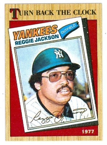 - Reggie Jackson 1987 Topps baseball card Turn back the clock #312 New York Yankees