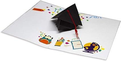 Favoloso RF Distribution Biglietto di Auguri con Origami Color, Laurea TX93