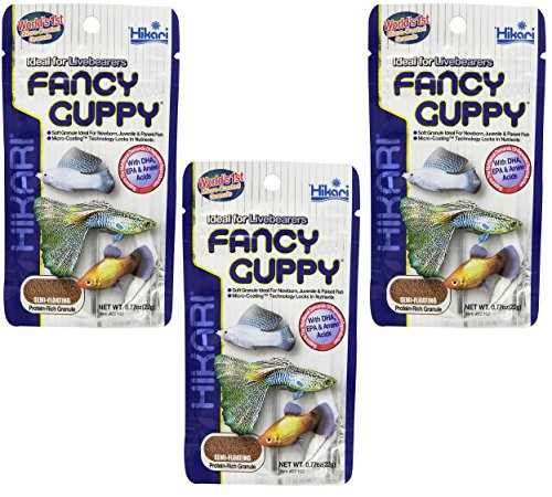 (3 Pack) Hikari Usa Tropical Fancy Guppy For Pet Health, 0.77-Ounce Each