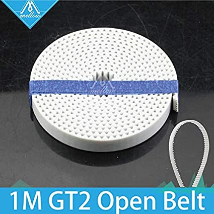 10M White Open Timing Belt Width 6mm PU with Steel Core for 3D Printer 3D Printer Accessory