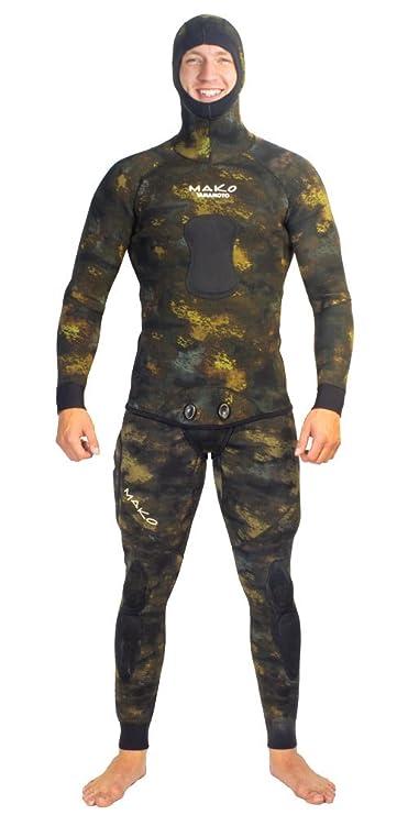 Amazon.com: Spearfishing traje de neopreno 3 mm 2 Pieza ...