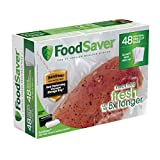 "FoodSaver 8""x11"" 1 Qt, Pre-Cut Food Storage Bags (48 Bags)"